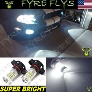 2 Super Bright Pure White Led Fog Lights For 2007 2014 Ford Mustang Shelby Gt500