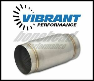 Vibrant Performance 1797 Stainless Steel Race Muffler 4 Inlet outlet X 9 Long