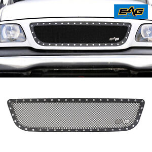 Eag Fit 99 03 Ford F150 Rivet Black Grille Steel Wire Mesh Insert