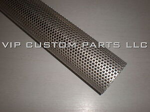 2 5 In 409 Stainless Steel Perforated Exhaust Tube 2 Foot Long
