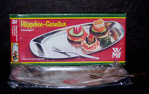 New Prof Wilhelm Wagenfeld Modernist Wmf Server Nibble Tray Cromargan 39