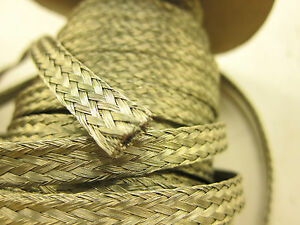 105 8 Awg Gauge 3 8 X 090 Braided Flat Grounding Strap Ground Wire Copper Tin