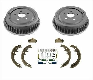 Fits 1993 1997 Ford Aerostar Rear Brake Drums Shoes Springs Wheel Cylinders