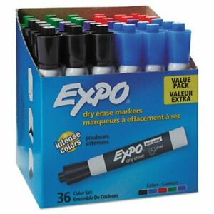 Expo 1921061 Low Odor Dry Erase Marker Assorted 36 Markers san1921061