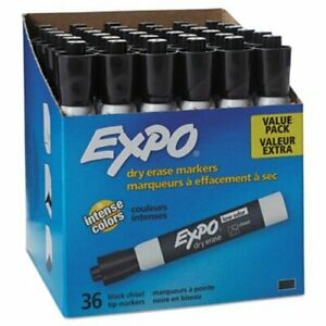Expo Low Odor Dry Erase Marker Chisel Tip Black 36 box san1920940