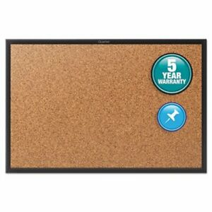 Quartet Cork Bulletin Board With Black Aluminum Frame 24 X 18 qrt2301b