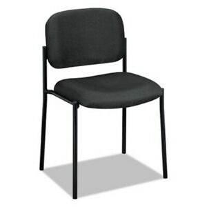 Basyx Vl606 Stacking Armless Guest Chair Charcoal Gray bsxvl606va19
