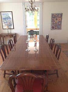 Classic English Dining Table 8 Chairs