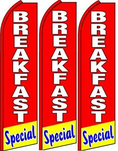 Breakfast Special Standard Size Swooper Flag Banner Sign Pk Of 3