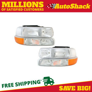 Front Head Light And Parking Side Marker Signal For 1999 2002 Silverado 1500
