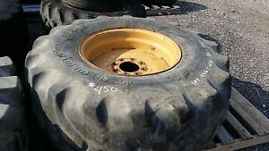 21l 24 Goodyear 12 Ply R 4 Tire 8 Lug Rim Tractors backhoes 40 Tread 325