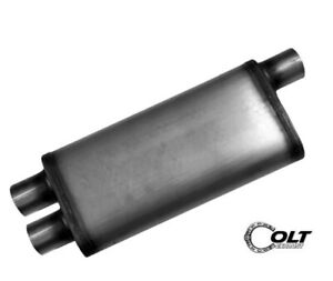 Performance Universal Max Flow Muffler 2 5 Single Offset Dual