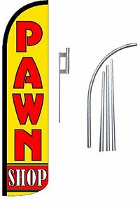 Pawn Shop Standard Windless Swooper Flag With Complete Kit