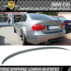 06 11 Bmw E90 3 Series 4dr 330 335 328 M3 Type Trunk Spoiler Unpainted Abs