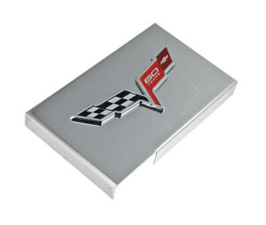 2013 Corvette C6 Polished Stainless Fuse Box Cover W Gm 60th Anniversary Emblem