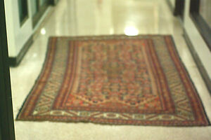 Antique Persian Bijar Rug With Kazak Pattern 53 X 88