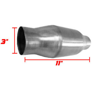 3 Universal Thunderbolt Catalytic Converter High Flow Stainless Steel