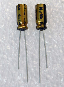 10x Nichicon Muse Fg 10uf 50v Fine Gold Audio grade Capacitor Usa Seller