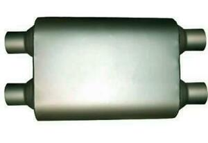 2 25 High Flow Performance Two Chamber Dual Universal Mufflers Dual In Dual Out