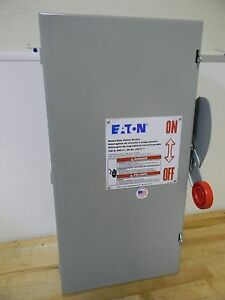 Eaton 100a 600v Cutler hammer Heavy duty Single throw Safety Switch Dh363ugk