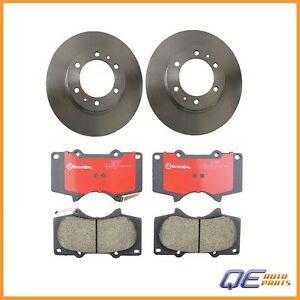 Set Of 2 Front Disc Brake Rotors And Pads Brembo Fits 4runner Fj Cruiser Tacoma