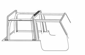 88 1995 Jeep Wrangler Soft Top Hardware For Factory Style Squared Door Style