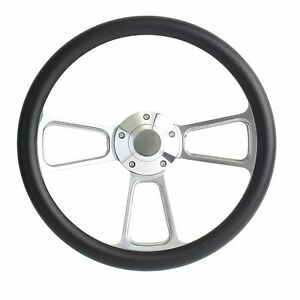 Hot Rod Street Rod Rat Rod Truck Black Billet Steering Wheel Horn