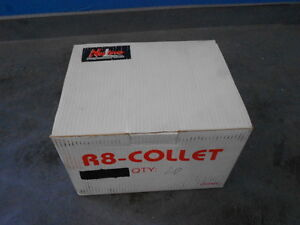 Nuline 71620 27 32 Steel 7 16 20 Thread R8 Collets Box Of 20