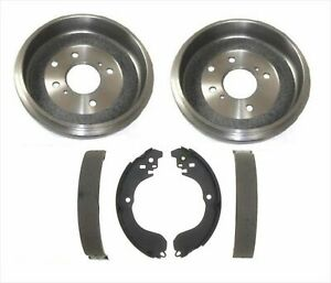 Rear Brake Drum Drums Shoes Set Kit For 07 12 Nissan Sentra Versa 09 14 Cube
