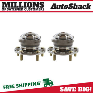 Pair 2 Rear Wheel Hub Bearing Assembly 5 Stud For 2009 2014 Acura Tsx Sedan Fwd