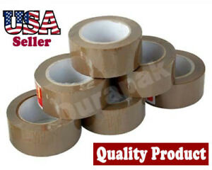 36 Rolls 1 8 Mil 2 110 Yd Quiet Carton Sealing Shipping Packing Tape Tan Color