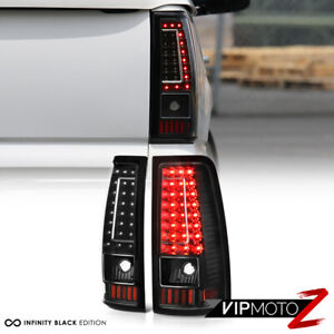 2003 2006 Chevy Silverado 1500 2500 3500 C Shape Black Led Rear Tail Lights Lamp