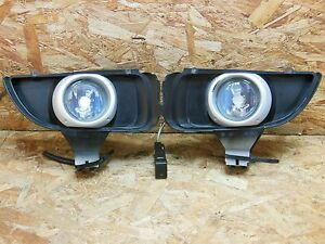 2002 2006 Jdm Mazda Mpv Lw White Fog Light Set With Frame And Switch Factory Oem