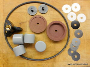 Berkel 808 818 Repair Kit drive Belt shoes stone Set Table Knob plug