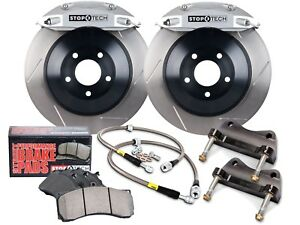 Stoptech Touring Bbk Big Brake Kit front silver 4 Pistons slotted 355mm Rotors