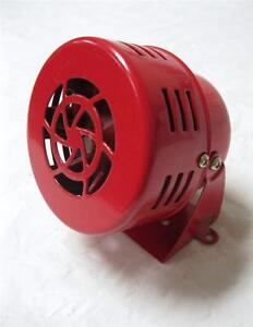 1950s 12v Car Truck Motorcycle Driven Red Air Raid Siren Horn Alarm 50 S