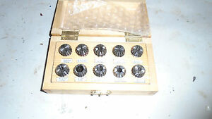 Machinist Tools Mill Lathe Machinist Set Of Er 16 Collets In Box 1 8 To 3 8