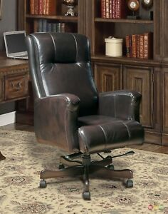Brown Genuine Leather Office Furniture Executive Desk Chair Dc 103 sb