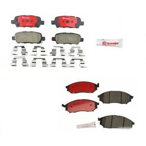 Front And Rear Disc Brake Pads Brembo For Infiniti Ex37 G37 Ex35 G25 M35 Fx35