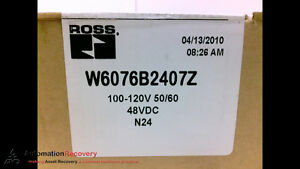 Ross W6076b2407z Solenoid Valve 100 120v 50 60hz 48vdc New 203167