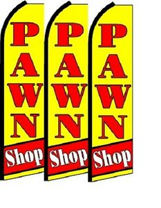 Pawn Shop King Size Polyester Swooper Flag Pk Of 3