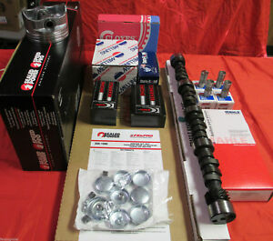 Buick 350 Master Perf Engine Kit High Comp W cam Pistons Gaskets No Brgs