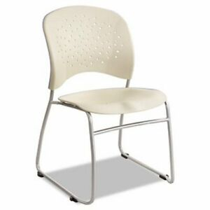 Safco Reve Series Guest Chair W sled Base Plastic steel 2 ct saf6804lt