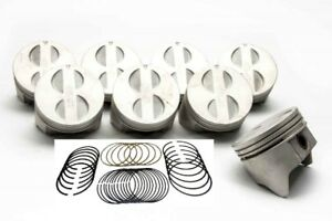 Ford 289 302 5 0 Sealed Power Cast Flat Top 4vr Pistons Rings Kit Std