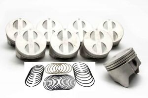 Ford 289 302 5 0 Sealed Power Cast Flat Top 4vr Pistons Rings Kit 020