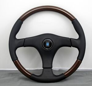 Nardi Steering Wheel Gara 3 3 L W 365mm Black Leather Wood Made In Italy