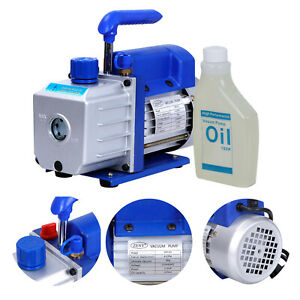 1 3hp 4cfm Rotary Vane Deep Vacuum Pump Ac Air Conditioning Tool R410a R134 Hvac