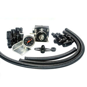 7mgte Mkiii Fuel Pressure Regulator With Hose Line Kits An6 Fittings Gauge