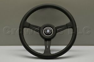 Nardi Classic Steering Wheel 365mm Black Leather Kba abe 70122 Leather Ring