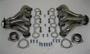 Small Block Ford 289 302 351w Tight Fit Stainless Steel Hugger Headers Sbf New